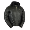 Daniel Smart Cruiser Motorcycle Leather Jacket w/ Removable Hoodie - American Legend Rider