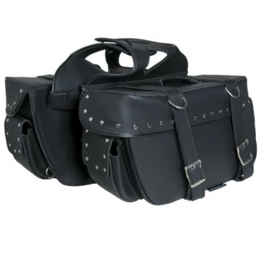 Daniel Smart Two Strap Saddle Bag with Studs