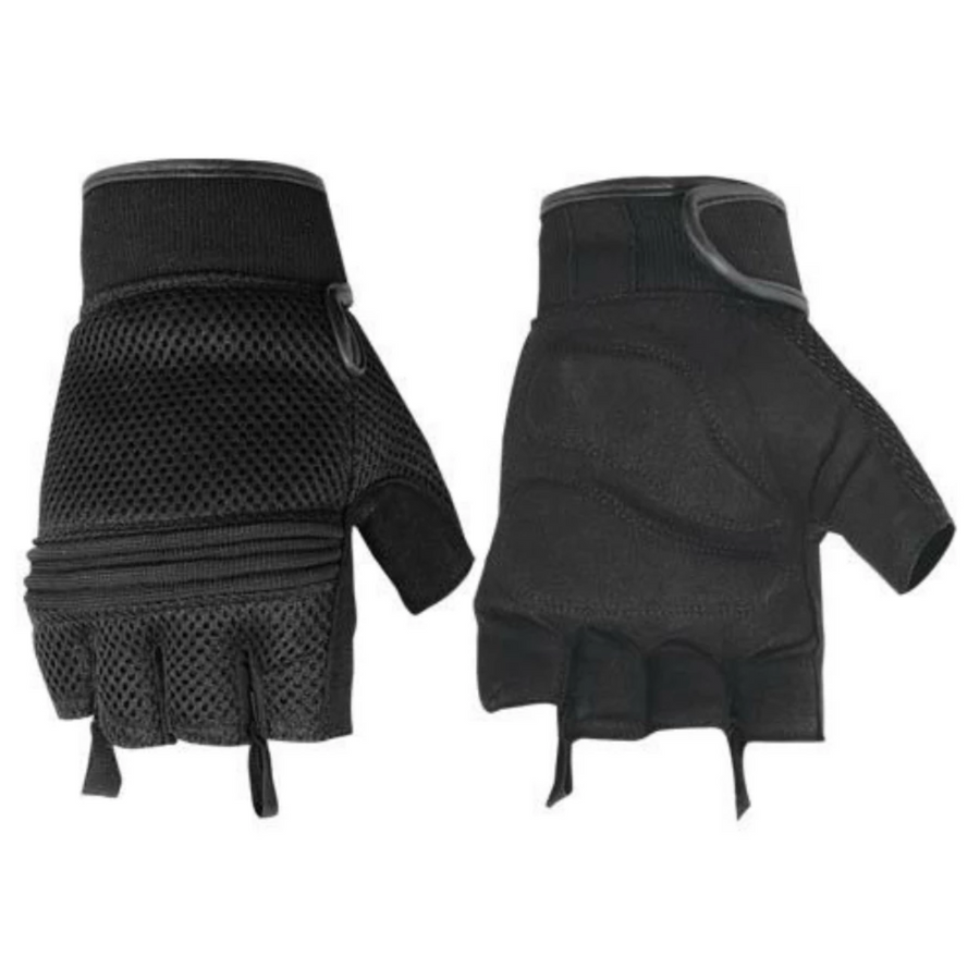 Daniel Smart Synthetic Leather/Mesh Fingerless Gloves