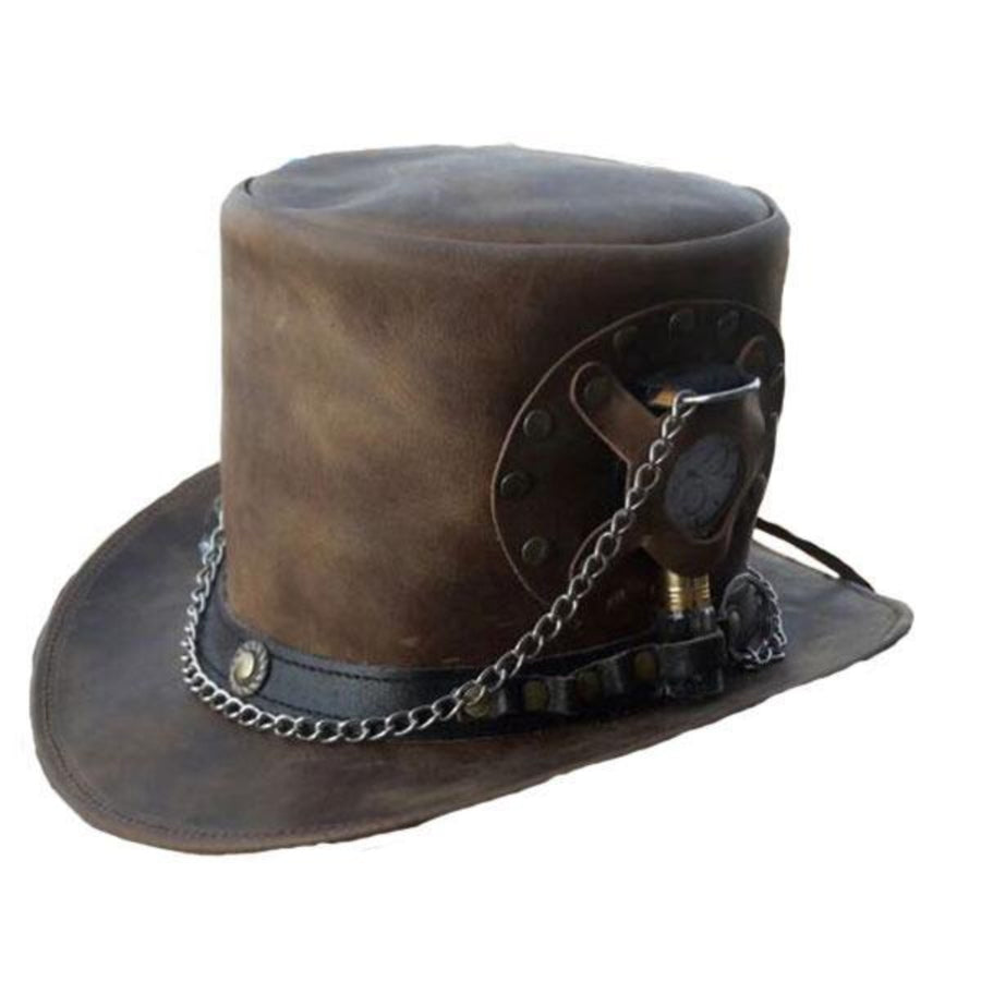 Vance Leather Steampunk Time Traveller Top Hat