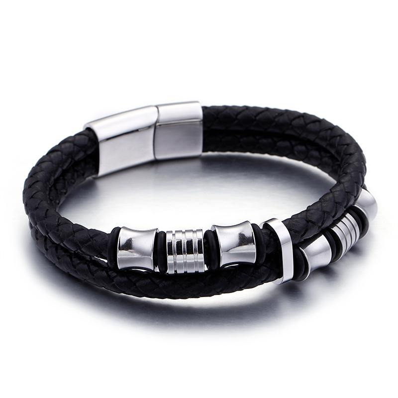 Double-Row Braided Bracelet - American Legend Rider