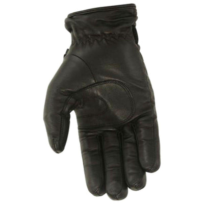 First Manufacturing Women's Waterproof Driving Gloves with Hipora Insert, Leather, Size XS-3XL, Black