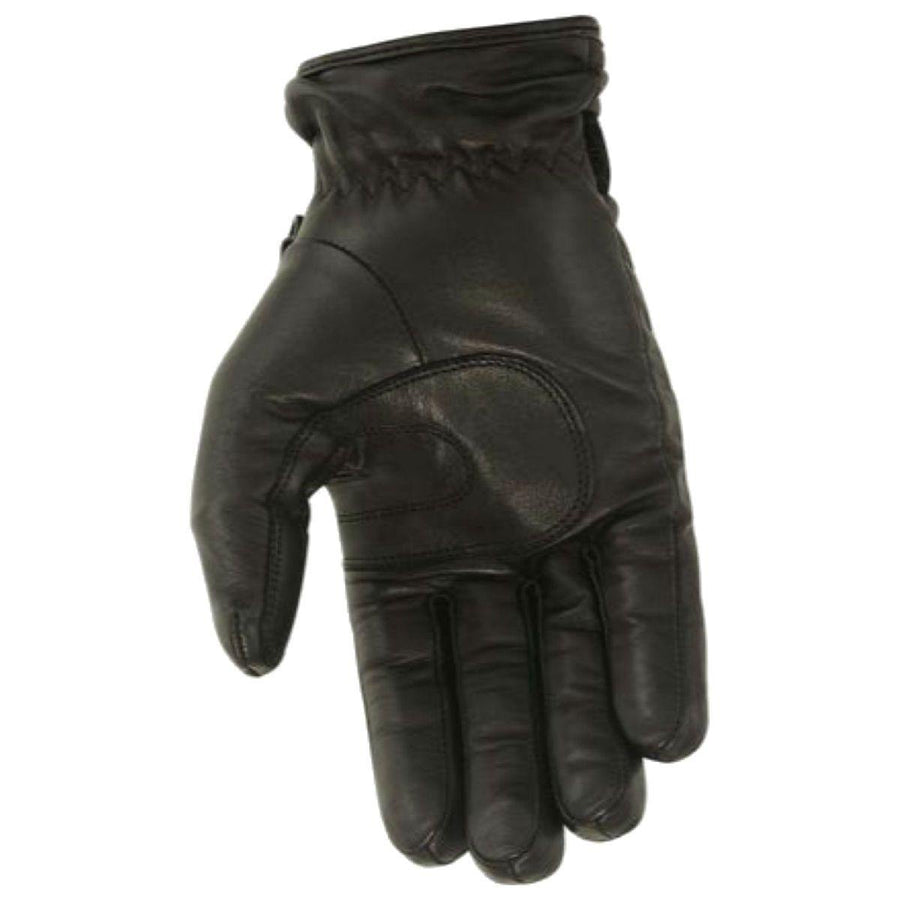 First Manufacturing Waterproof Driving Black Leather Gloves w/ Hipora Insert - American Legend Rider