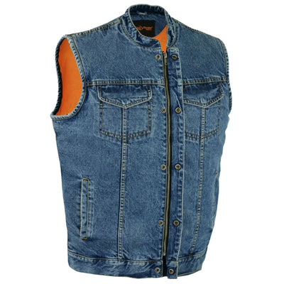 Daniel Smart Denim Scoop Collar Vest