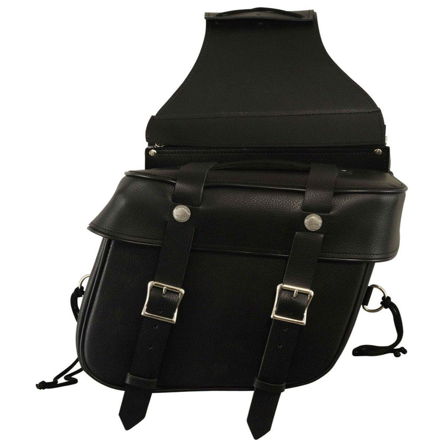 First Manufacturing Leather Saddle Motorcycle Bag - American Legend Rider