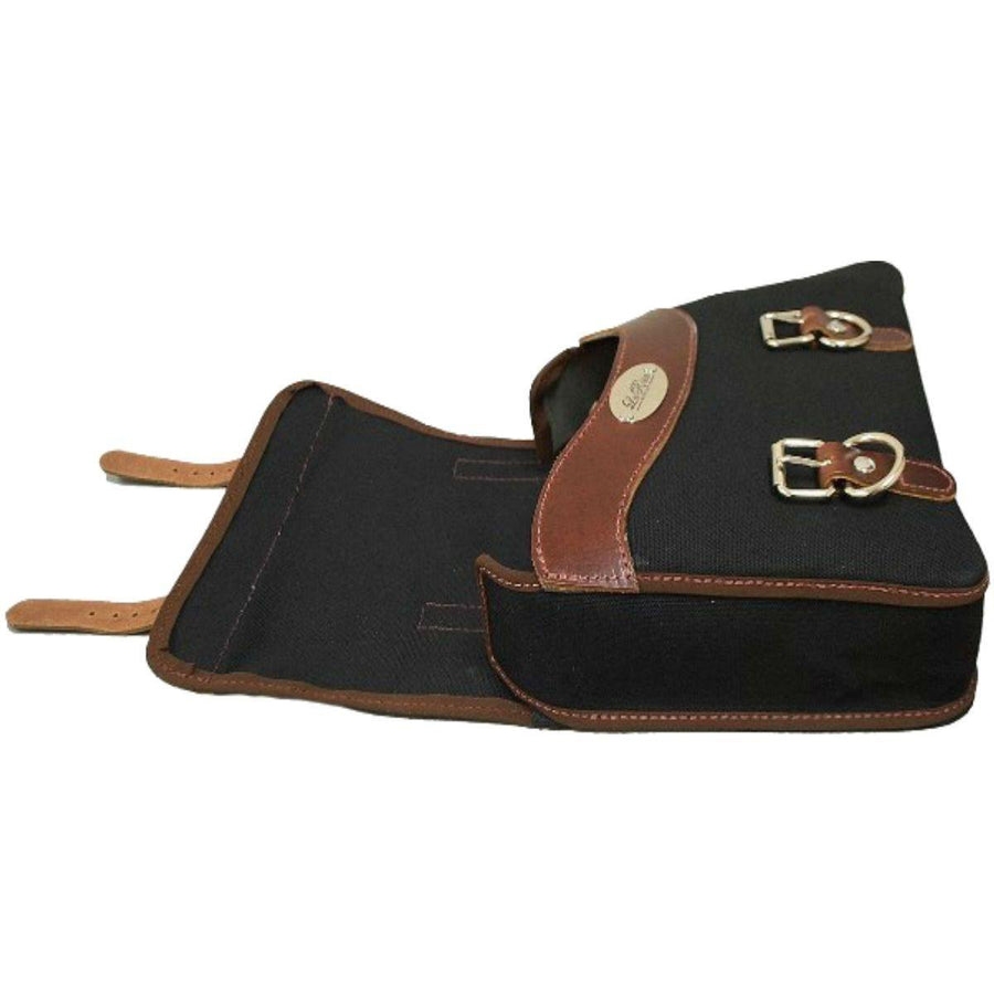 La Rosa Harley XL Sportster Canvas Solo Saddle Bag