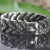 Men's Biker Punk Stainless Steel Bracelet 8.5 x 1 In.