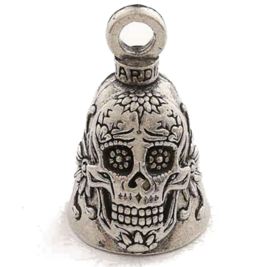 Daniel Smart Sugar Skull Guardian Bell, Pewter, 1.5 x 1 Inches