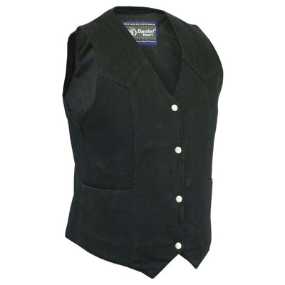 Daniel Smart  Women's Denim Classic Plain Sides Vest