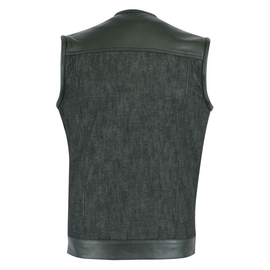 Daniel Smart Leather/Denim Combo Vest 2.0