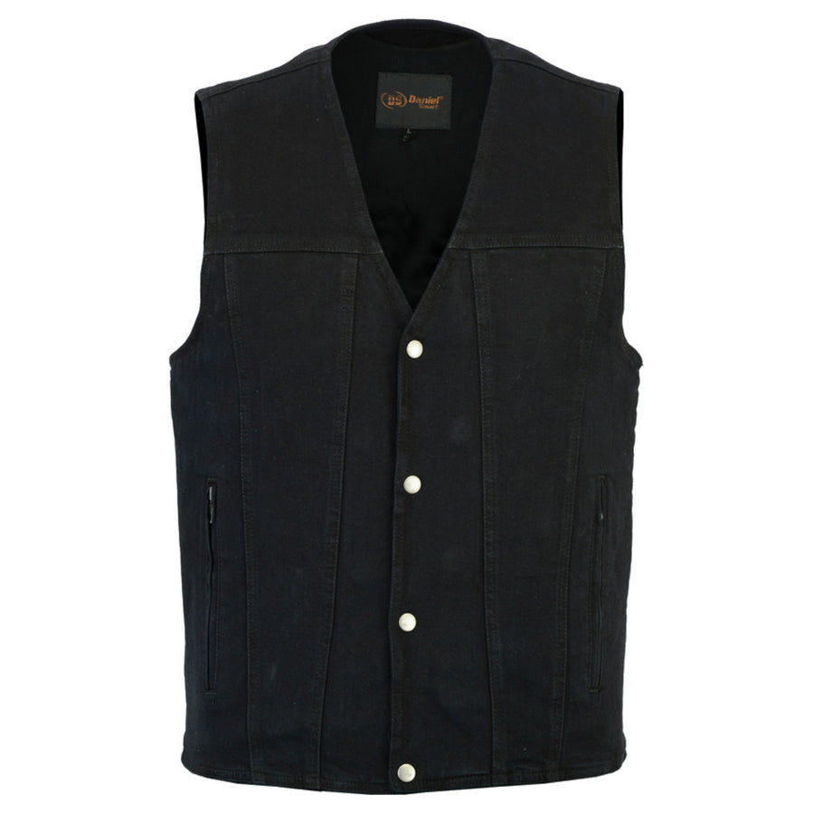 Daniel Smart Black Concealed Denim Vest