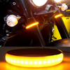 Motorcycle Fork-Mounted LED Turn Signal Light