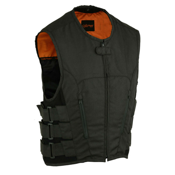 Daniel Smart Swat Team Style Motorcycle Vest, Black