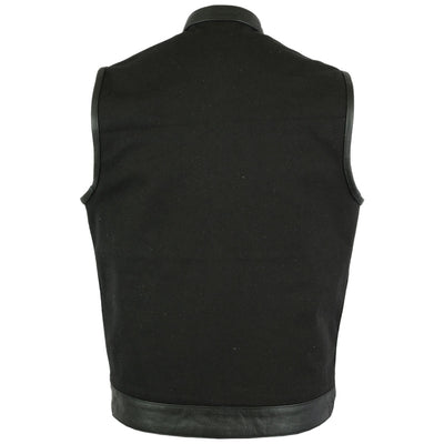 Daniel Smart Textile Concealment Vest with Leather Trim