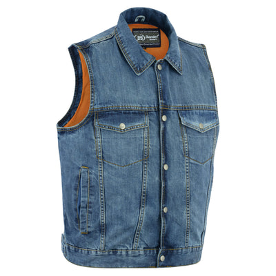 Daniel Smart Snap Front Denim Vest