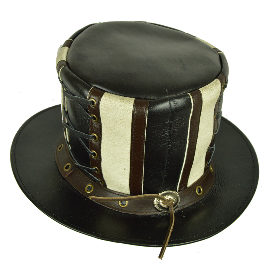 Vance Leather Steampunk Victorian Stove Pipe Top Hat