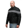 Vance Leather Men's Twin Stripe Textile Jacket