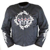 Vance Leather Textile Jacket with Reflective Skull and Hoodie