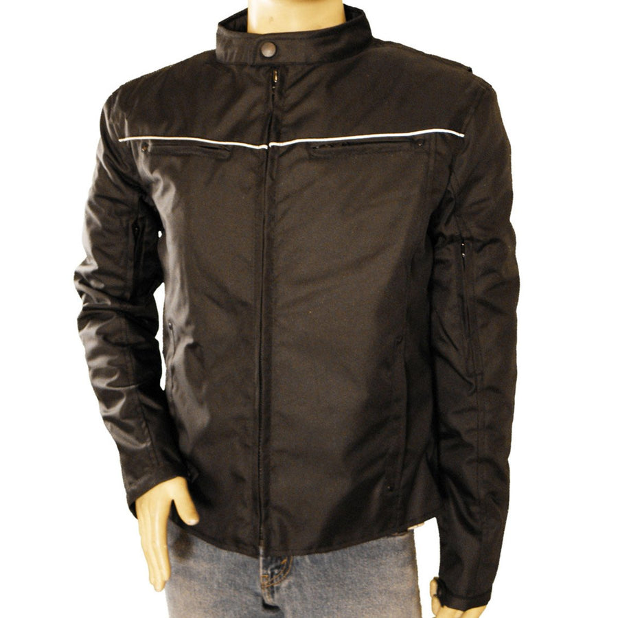 Vance Leather Men's Vented Textile Jacket with Reflective Piping