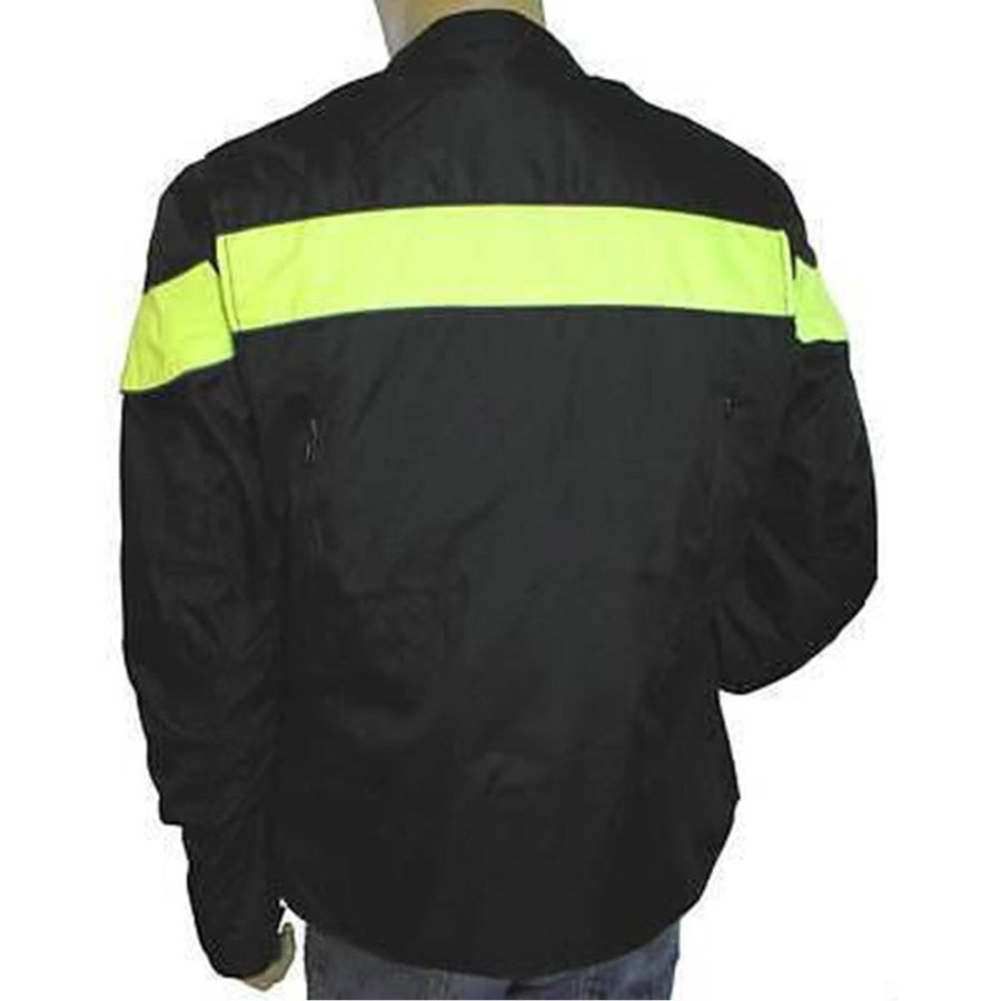 Vance Leather Men's Vented Textile Jacket with Reflective Piping and Stripe