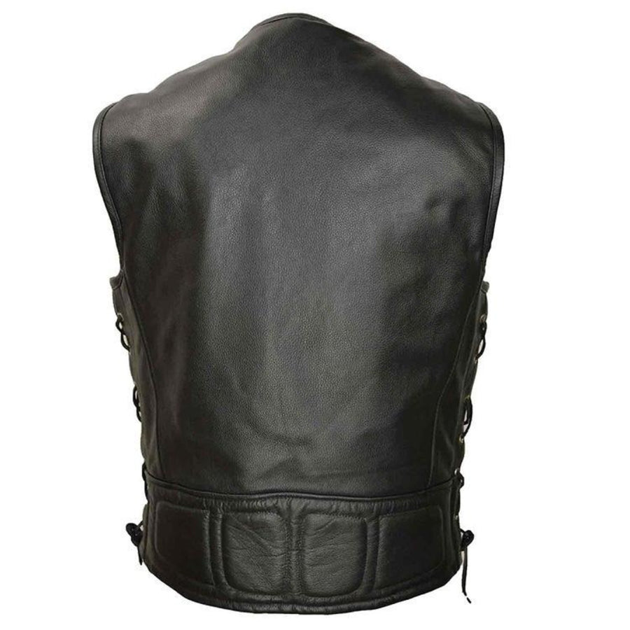Vance Leather Men's Premium Padded Leather Vest
