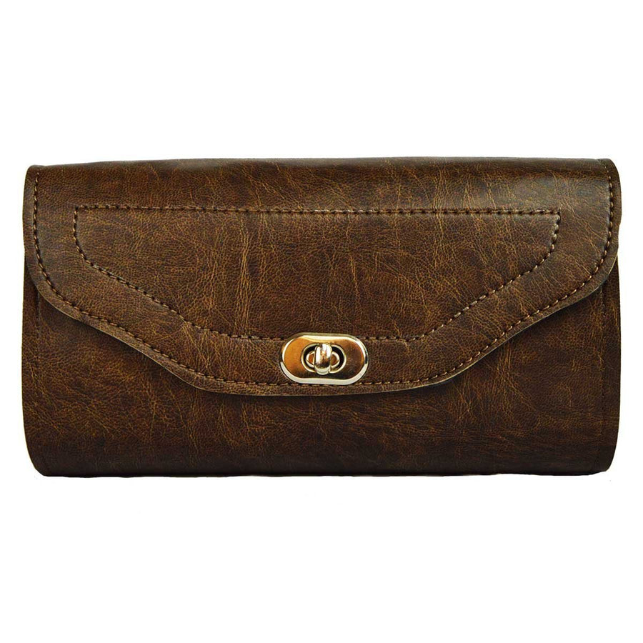 Vance Leather Distressed Brown Toolbar with Twist Latch