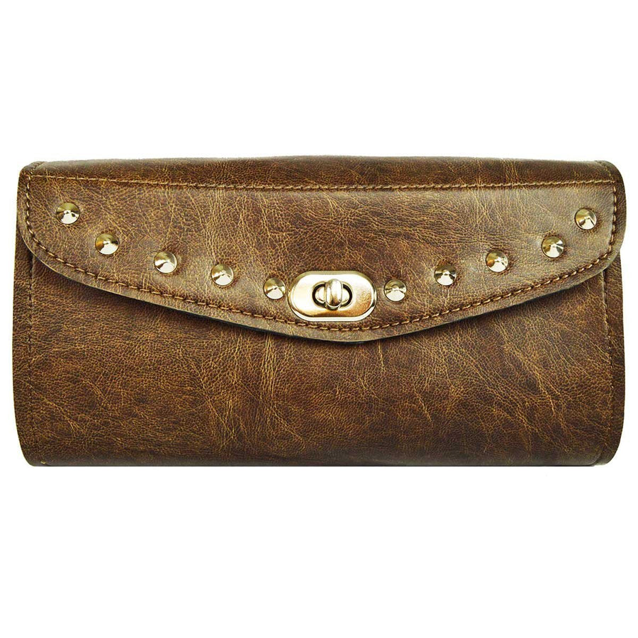 Vance Leather Distressed Brown Studded Tool Bag