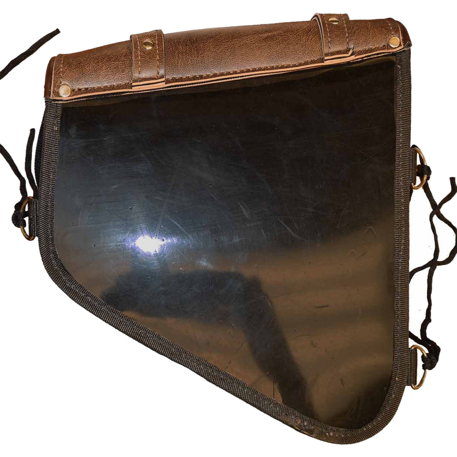 Vance Leather Swing Arm Bag Left Side Distressed Brown