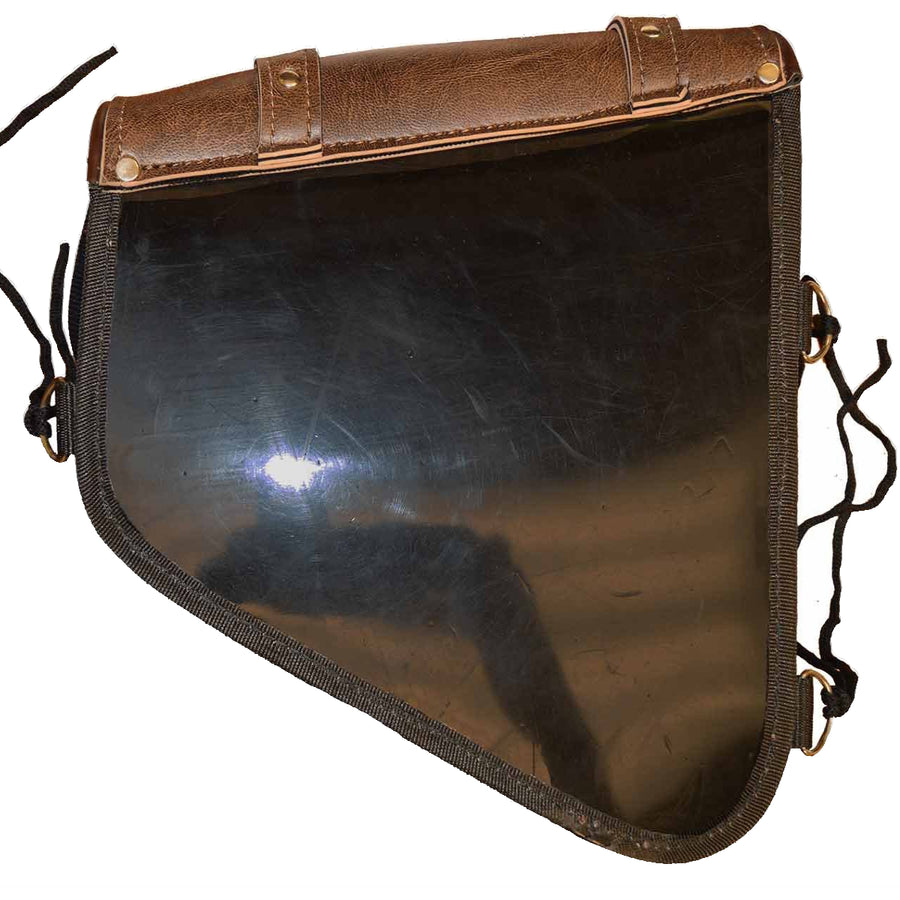 Vance Leather Swing Arm Bag Right Side Distressed Brown
