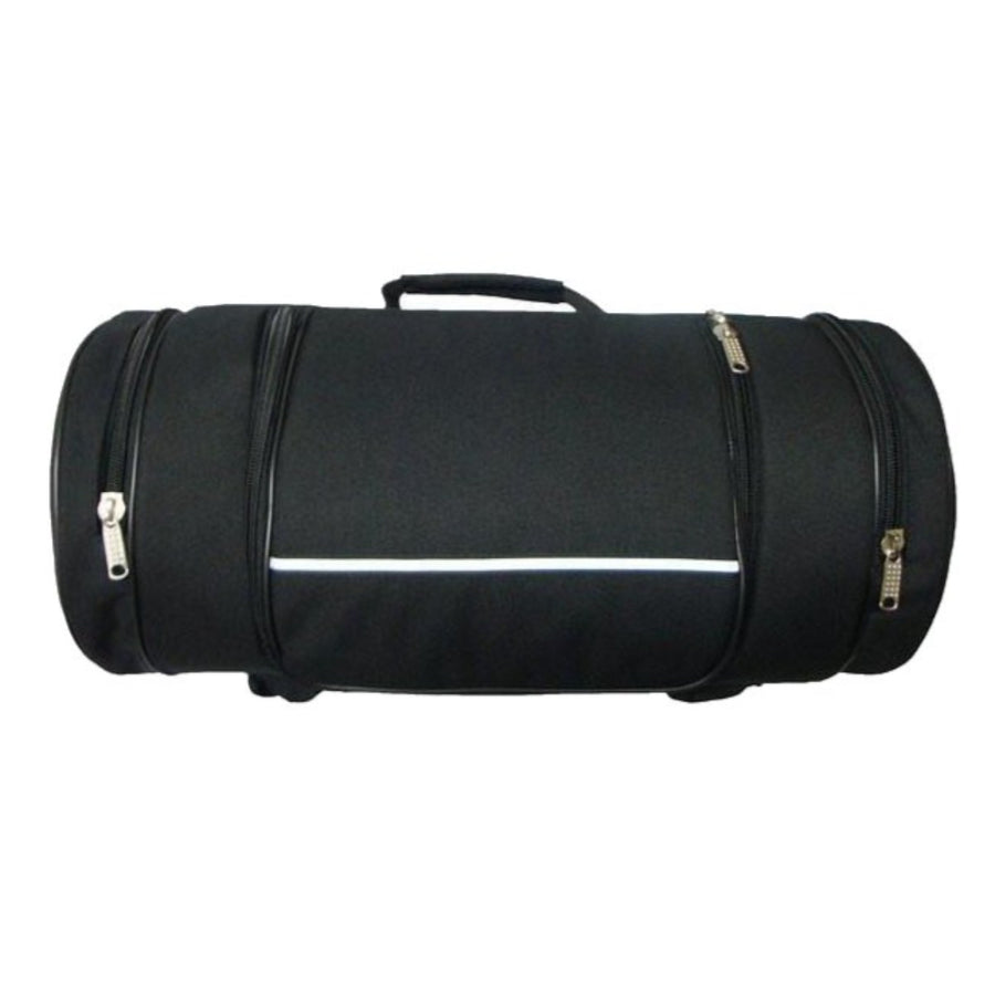 Vance Leather Textile Sissy Bar Roll Bag with 2 Side Pockets