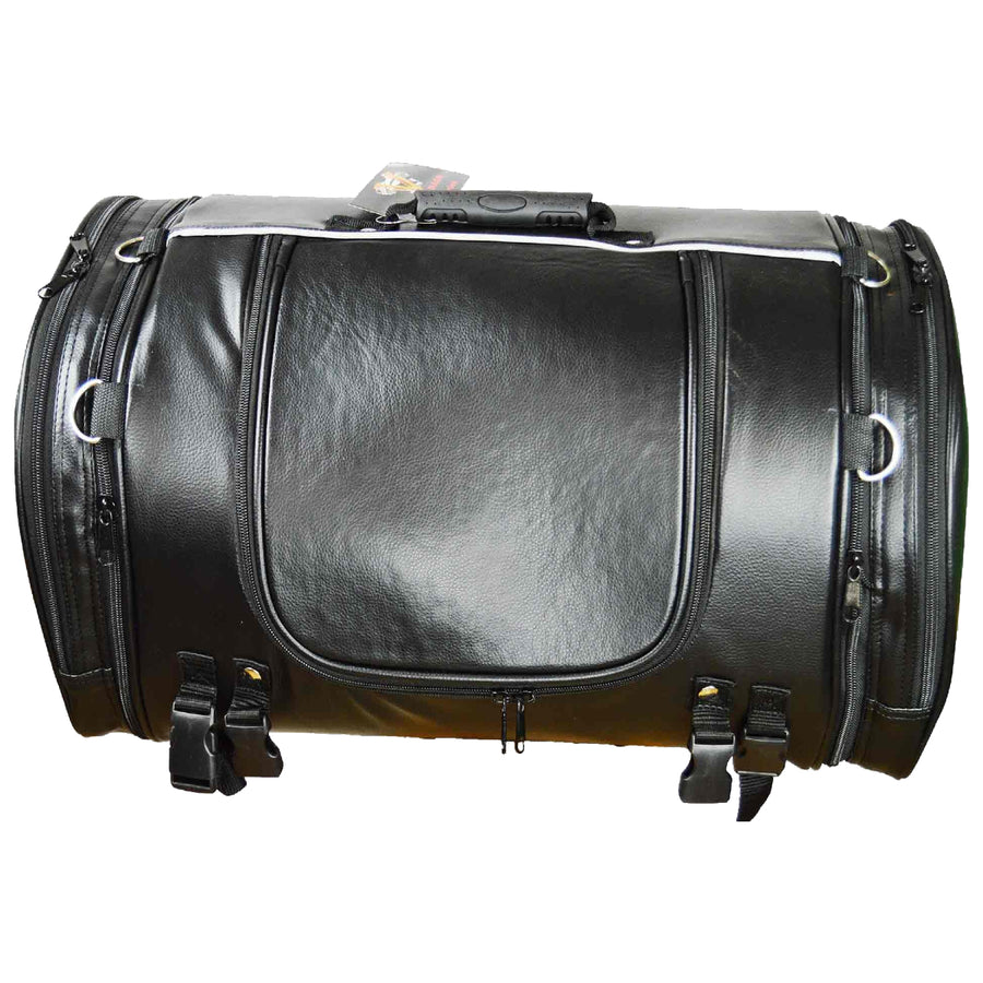 Vance Leather Trunk Bag with Expandable Sides