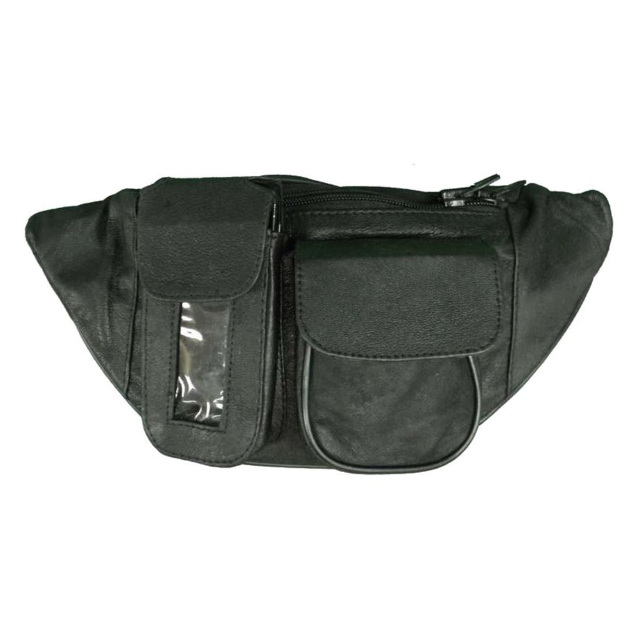 Vance Leather Magnetic Tank Bag/Fanny Pack with Three Pockets