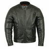 Daniel Smart Men's Vented M/C Jacket with Plain Sides