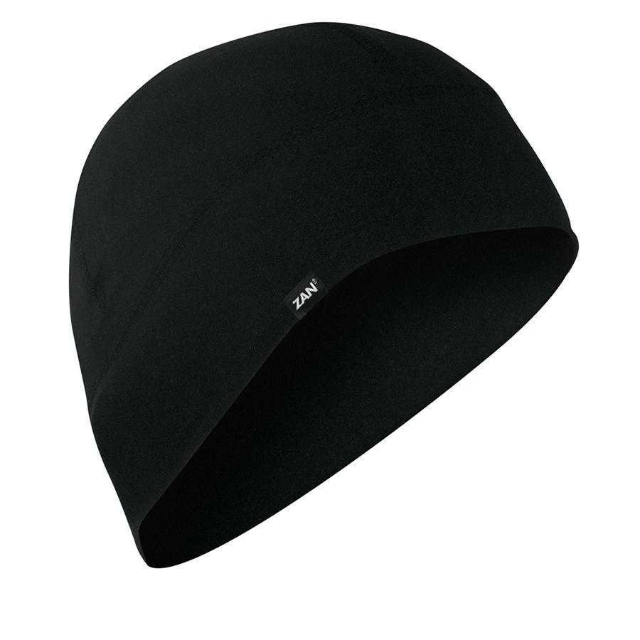 Zan Headgear® SportFlex™ Unisex Solid Black Style Beanie with 50+ UV Protection, Brushed Polyester/Elastane Ultra-Comfort Material
