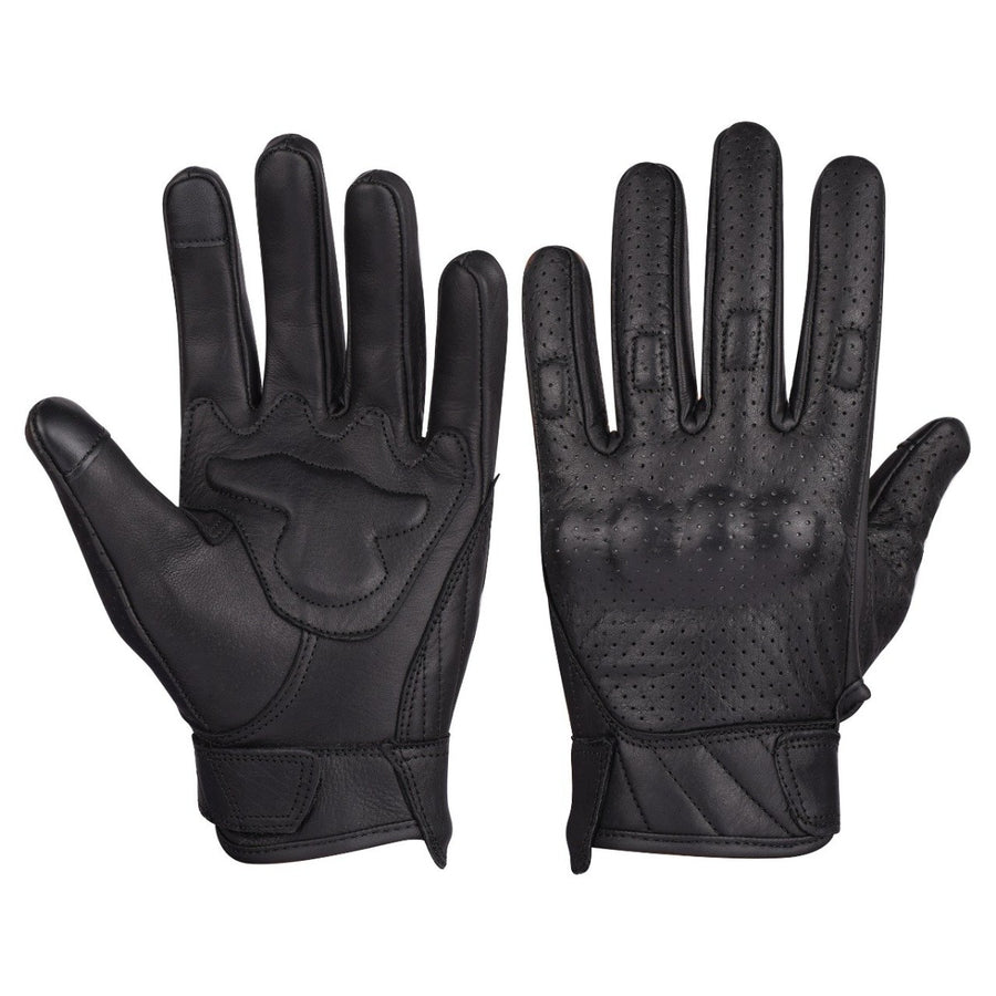 Vance Men's Premium Leather Perforated Gloves