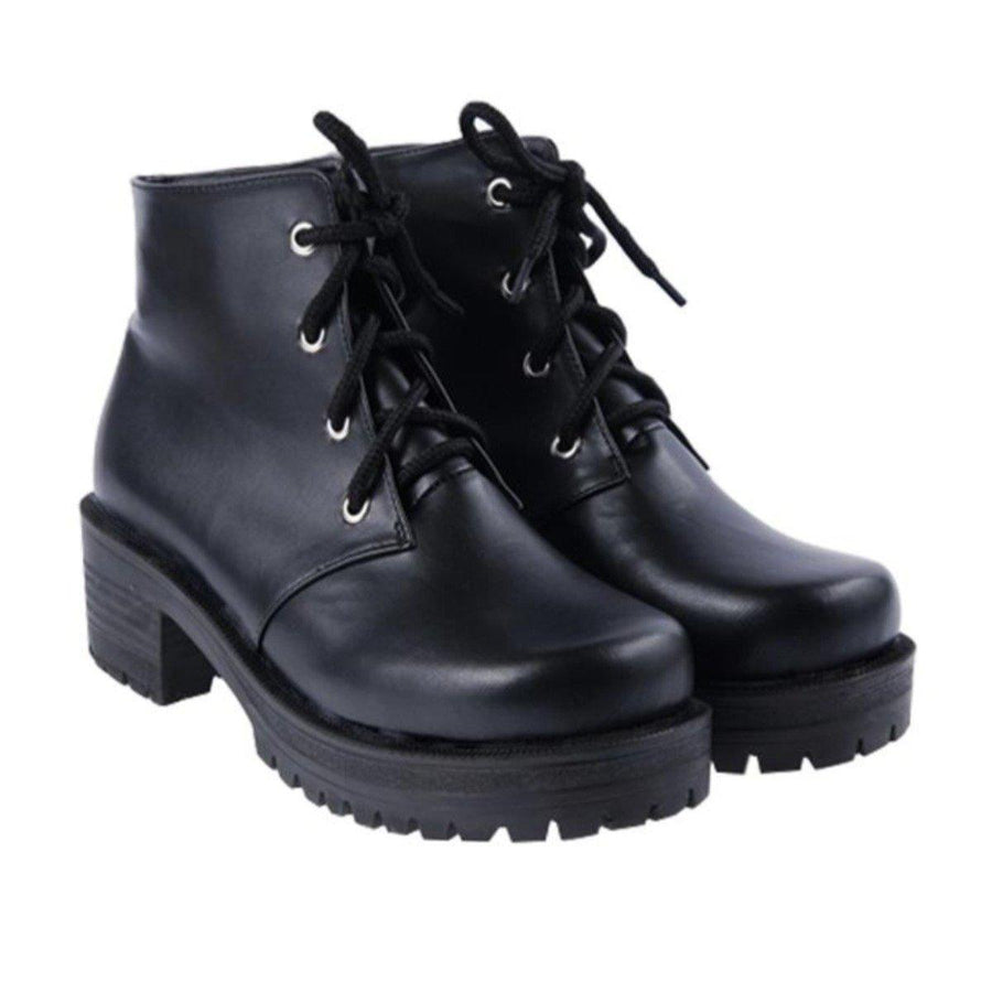 Women's Mid Heels Lace-Up Ankle Boots