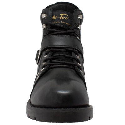 Daniel Smart Black Biker Boots w/ YKK Zipper