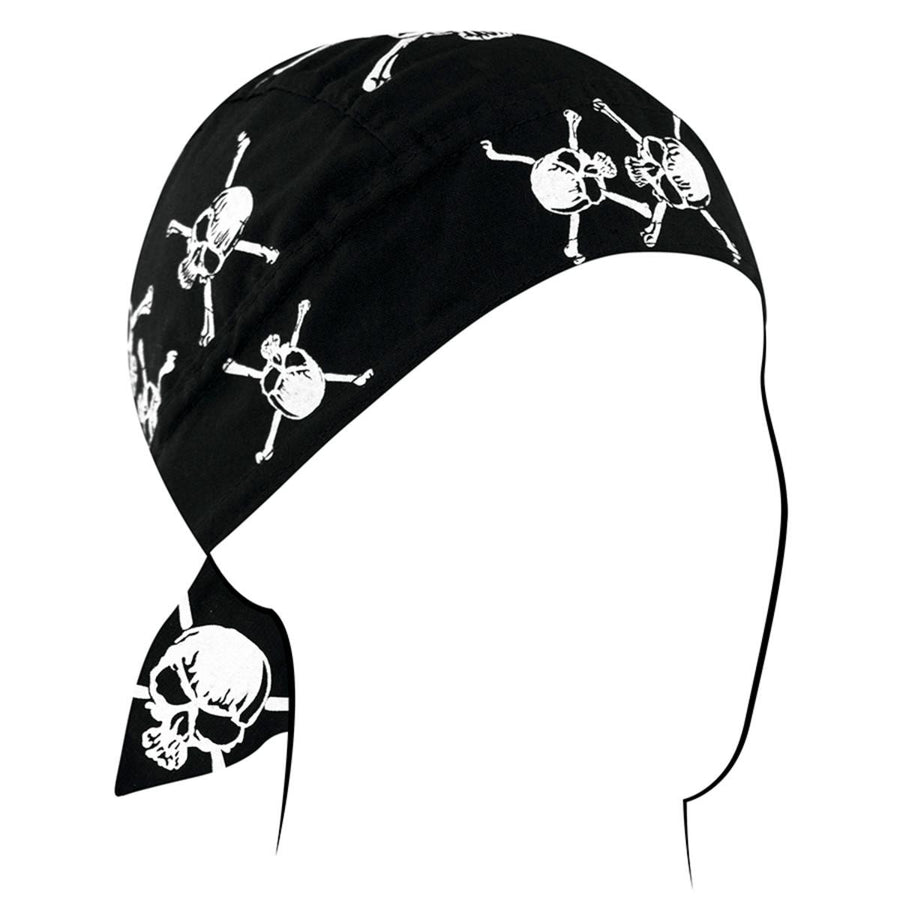 Zan headgear White/Skull Crossbones Headwrap
