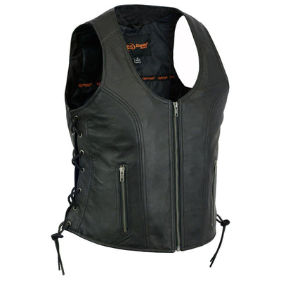 Daniel Smart Stylish Open Neck Side Lace Vest - American Legend Rider