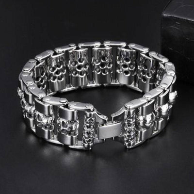 Fashion Wide Skull Bracelet