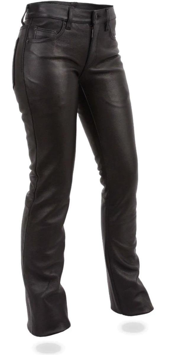 First Manufacturing Women's Alexis Leather Pants, Size US 2-14, Black