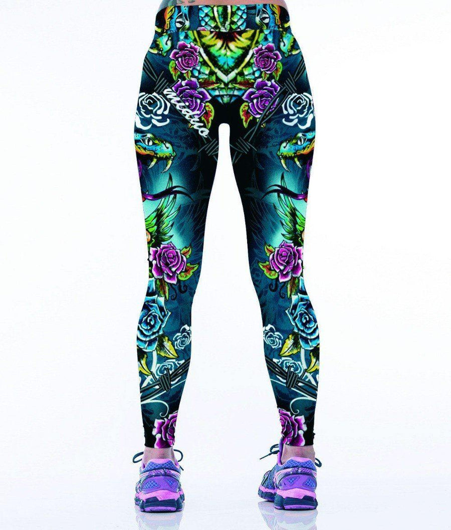*Limited Edition* Punk 3D Leggings - One Size - American Legend Rider