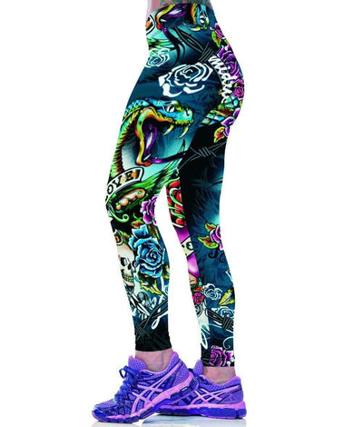 *Limited Edition* Punk 3D Leggings - One Size