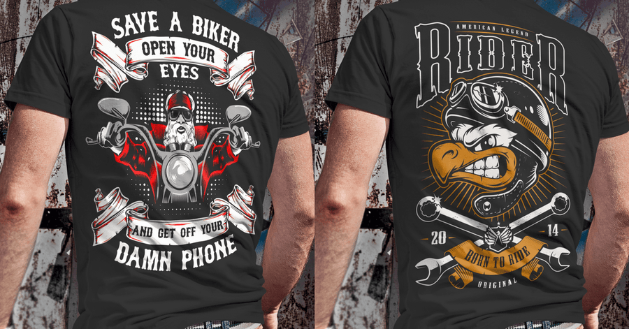 Save A Biker Open Your Eyes And Get Off You Damn Phone Long Sleeve T-Shirt, Cotton, Black