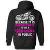 Because It Is Inappropriate To Use Vibrator In Public Hoodie, Cotton/Polyester, Black - American Legend Rider