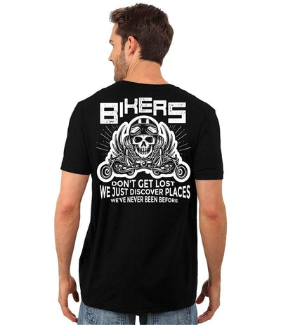 Bikers Don't Get Lost T-Shirt - American Legend Rider