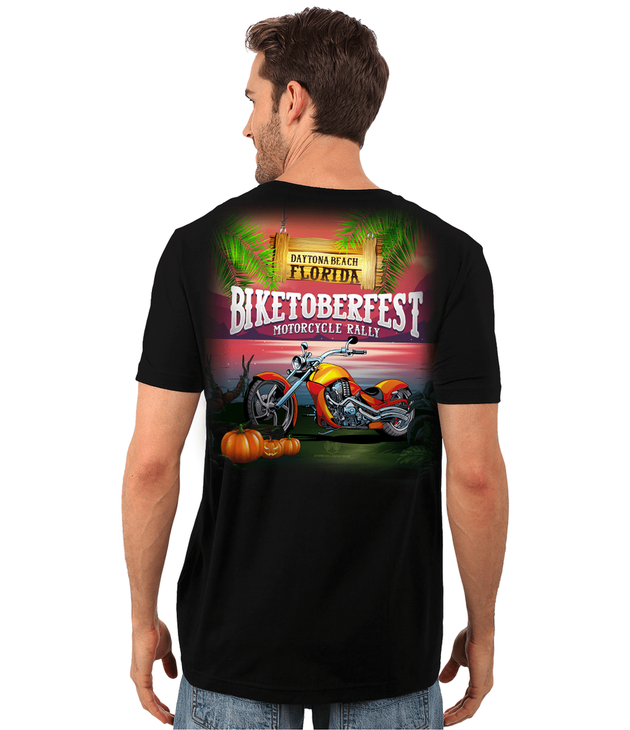 Biketoberfest Men's T-shirt (Black, Cotton, Polyester, S-6XL) - American Legend Rider