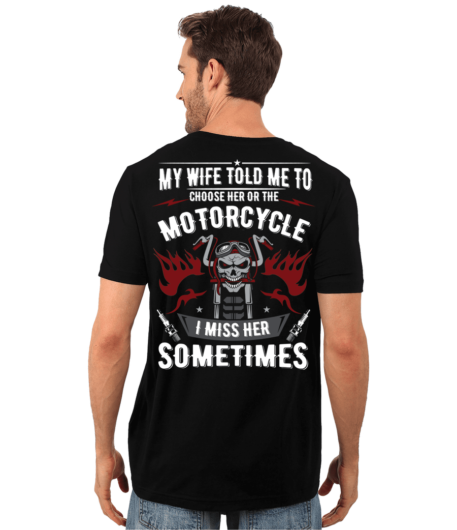 Choose Her or The Motorcycle T-Shirt - American Legend Rider