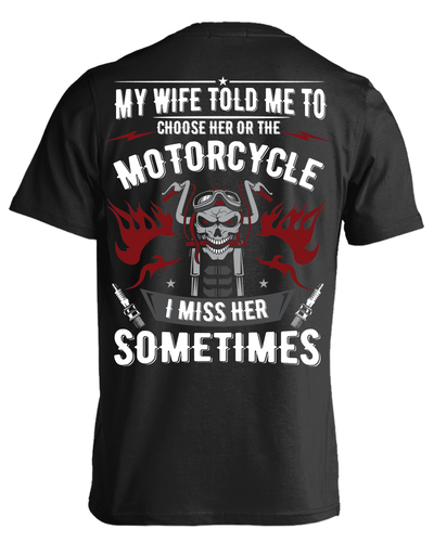 Choose Her or The Motorcycle T-Shirt