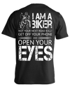 I Am A Biker T-shirt Short Sleeves, Cotton, Black